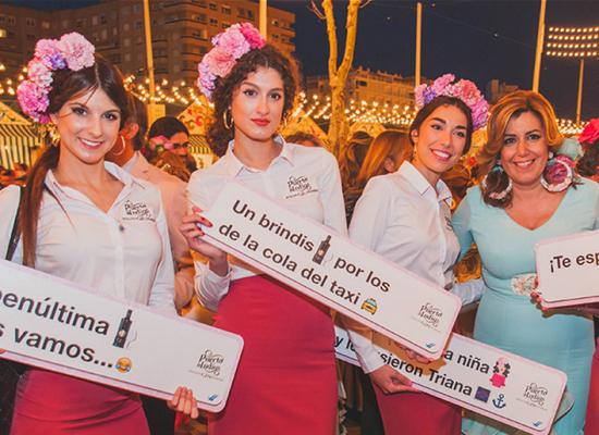 Street Marketing en la Feria de Abril para Puerto de Indias